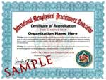 Certificate of Accreditation. Click to enlarge.